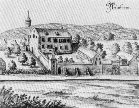 Das ehemalige Schloss von Oberneunforn